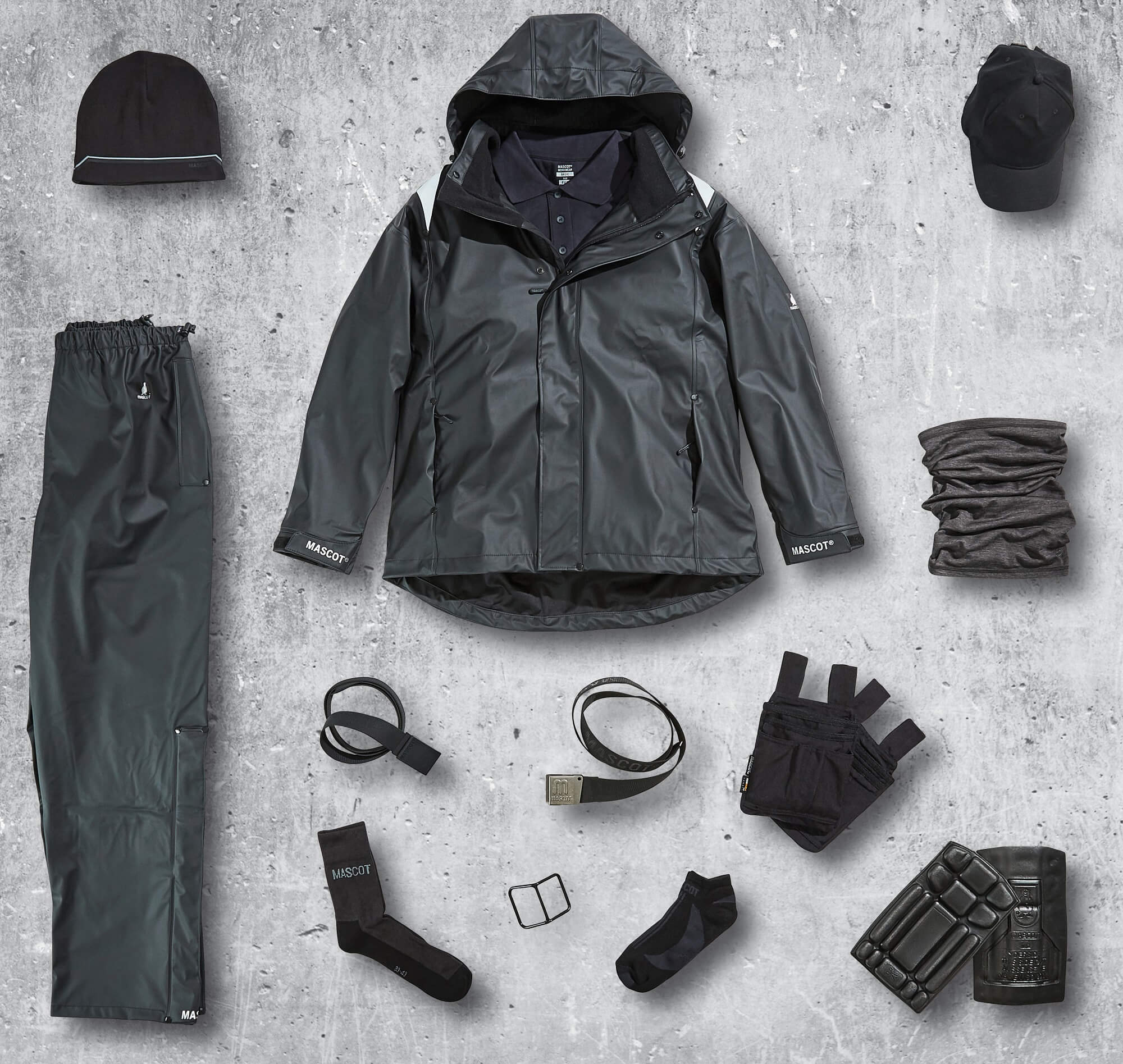 Ropa impermeable & Accesorio - Negro - Collage